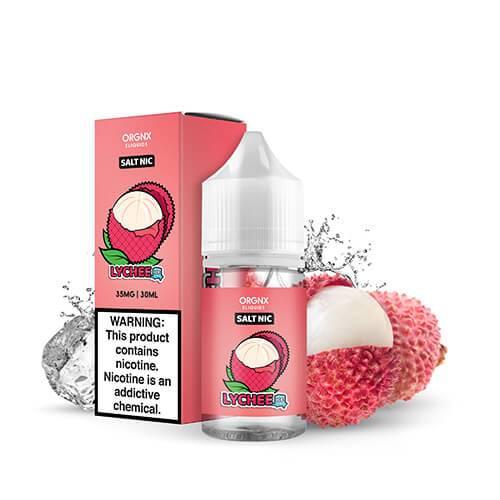 ORGNX Nicotine Salt- E-Liquids 30ml- Lychee Ice   Vapelab